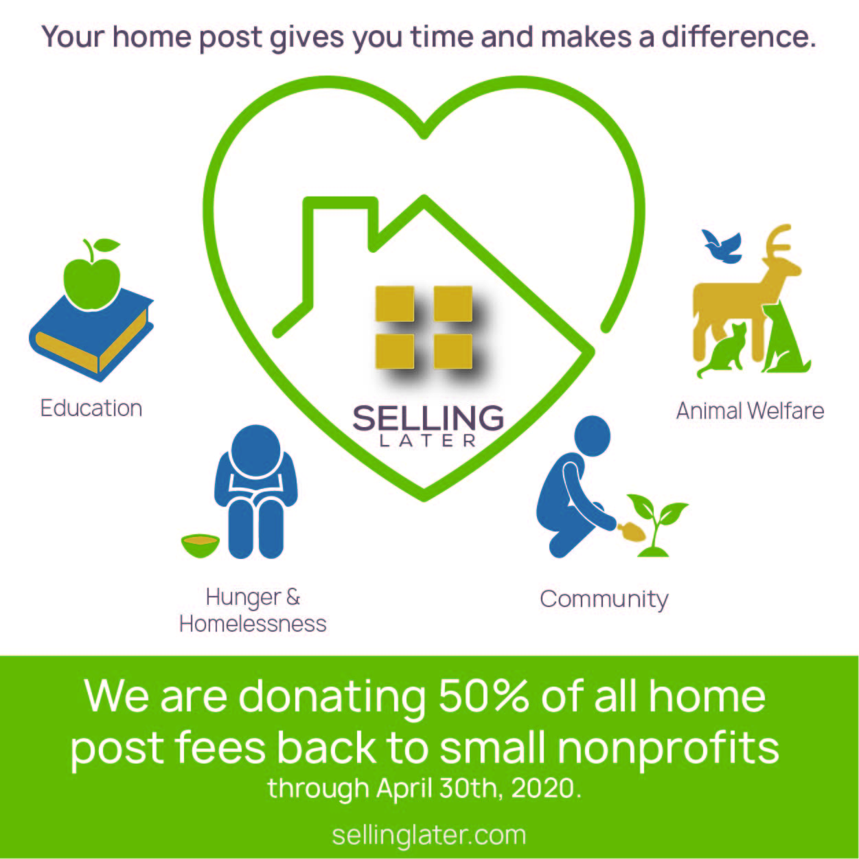 We are donating 50% back to small nonprofits